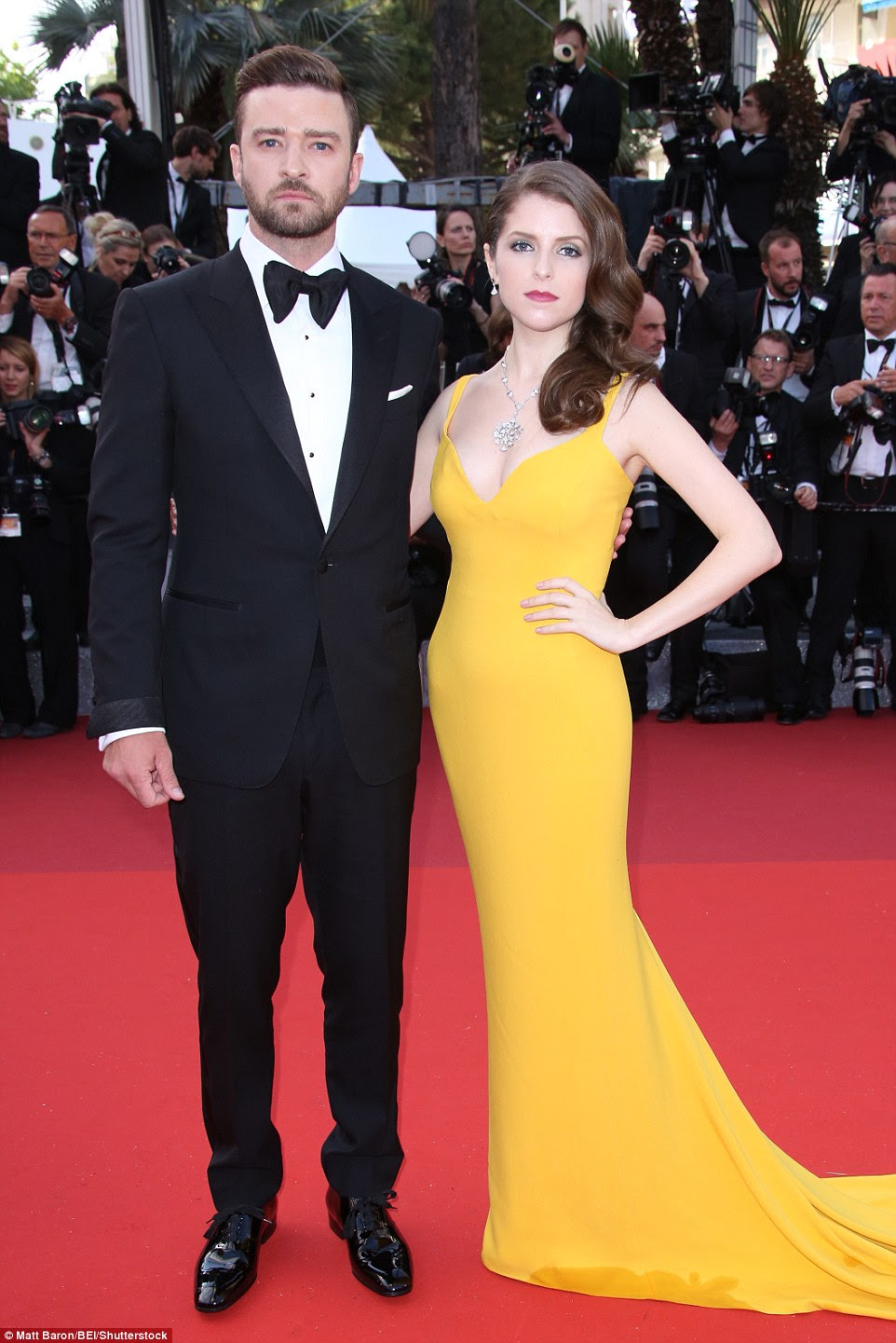 Wow-factor: Anna Kendrick pulled out all the stops when she attended the Cannes premiere of Woody Allen's latest movie on Wednesday, joining her Trolls co-star Justin Timberlake on the red carpet