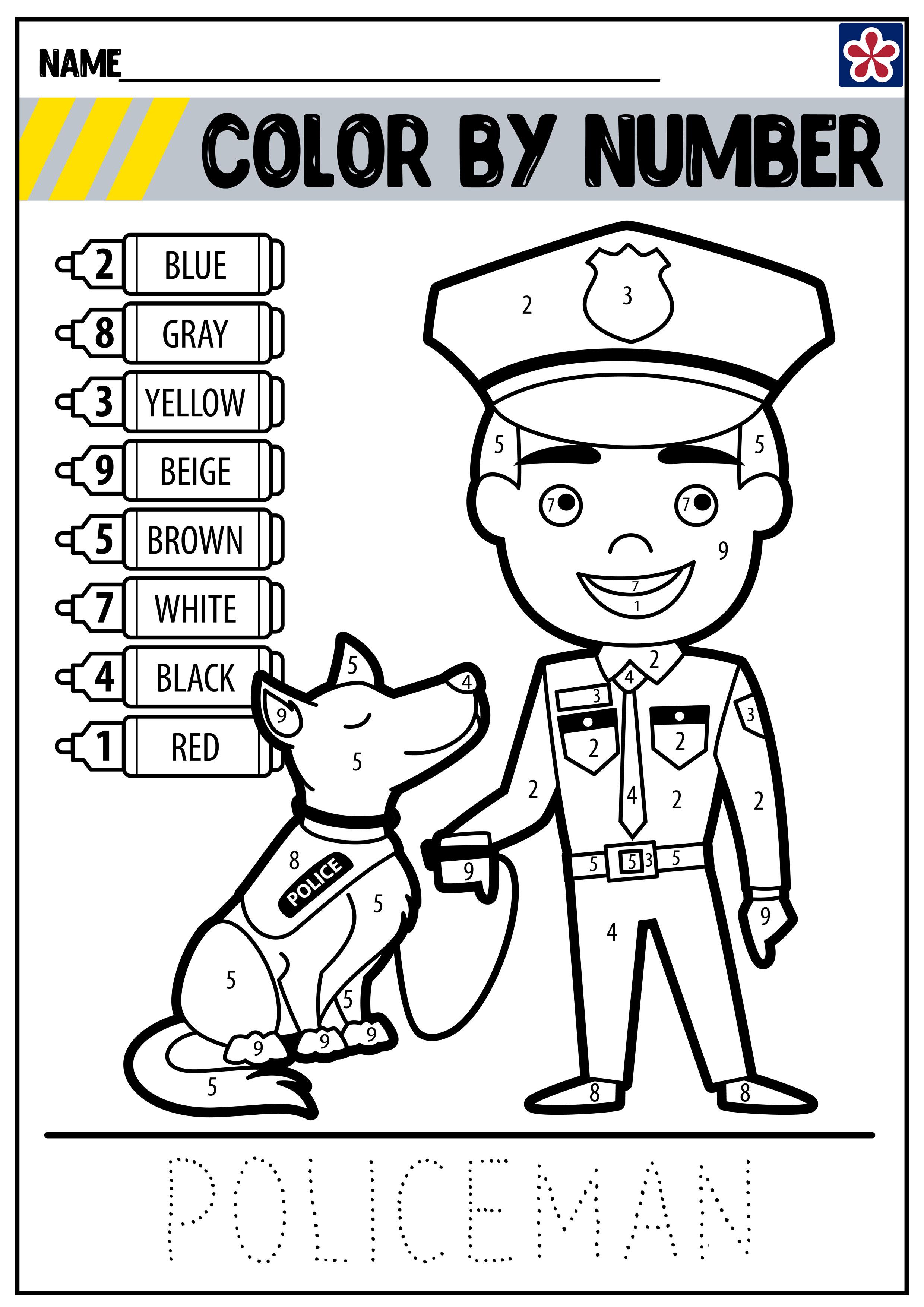 Community Helpers Worksheets: Police Officer | TeachersMag.com