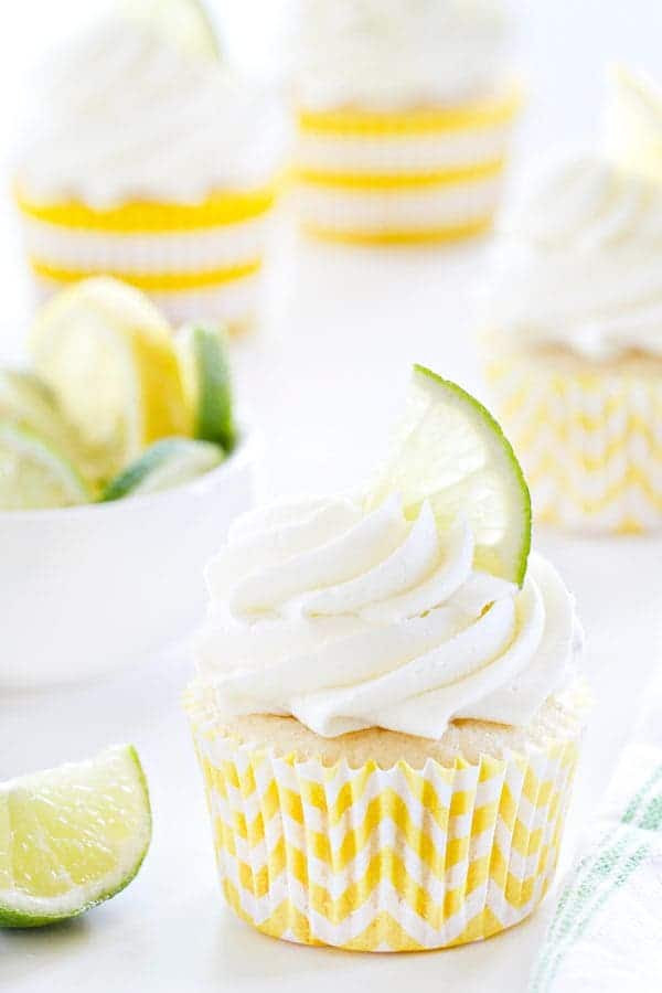 Lemon Lime Cupcakes have fresh zest throughout the cake. The lemon lime buttercream is absolutely gorgeous!