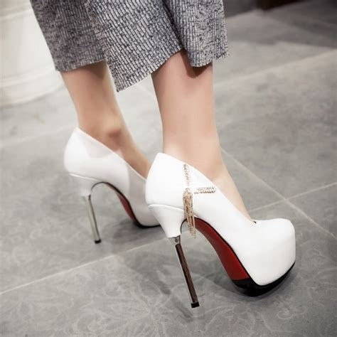 Popular Women Sexy Pumps Round Toe Spool High Heels Shoes