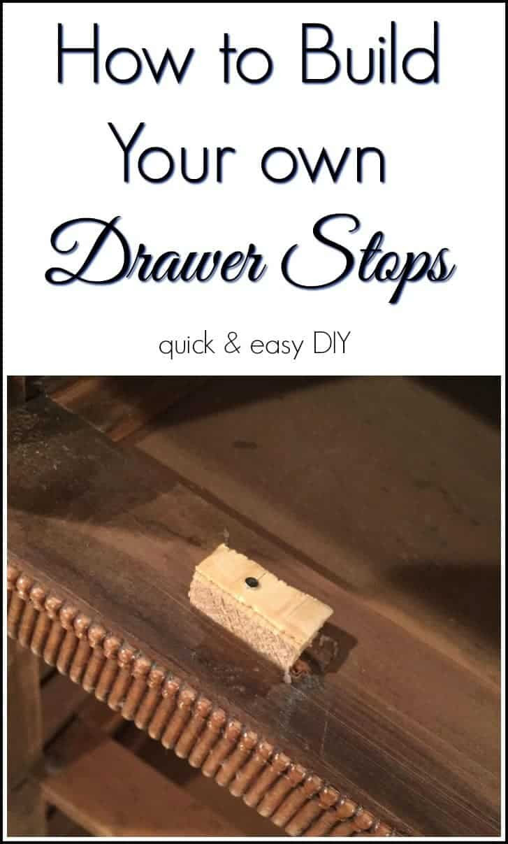 Quick and Easy DIY Drawer Stoppers