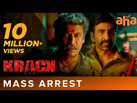 Veera Shanker Arrests Fight Scene in Krack Movie