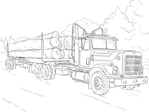 Disegni Da Colorare Camion Con Rimorchio Coloradisegni