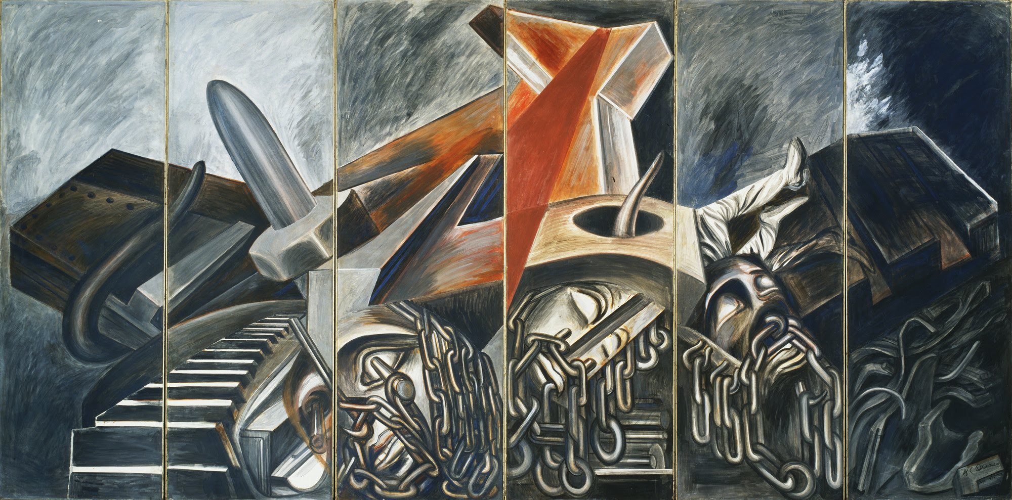 Jose Clemente Orozco Dive Bomber And Tank 1940 Moma