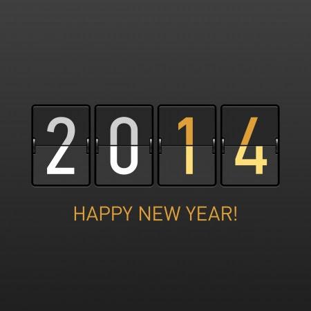 Bonne Année 2014 carte Banque d'images - 23796315