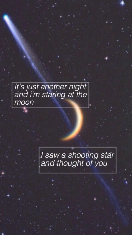 Love Quotes Moon Thoughts Star Sicklysatisfied