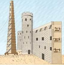ΠΟΛΙΟΡΚΗΤΙΚΟΣ ΠΥΡΓΟΣ. Ο Αλέξανδρος χρησιμοποίησε πολιορκητικούς πύργους με τροχούς (ρόδες), σκεπασμένους με δέρματα, για να τους προστατεύουν από τη φωτιά. Το ύψος τους ήταν περίπου 53 μ. και είχαν 20 ορόφους. Είναι οι ψηλότεροι πολιορκητικοί πύργοι που κατασκευάστηκαν ποτέ και αποτελούν τεχνικό κατόρθωμα της εποχής τους.