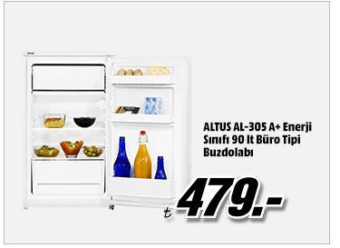 ALTUS AL-305 A+ Enerji Sınıfı 90 lt Büro Tipi Buzdolabı 479TL