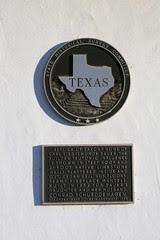 replica of saxony home historical plaque