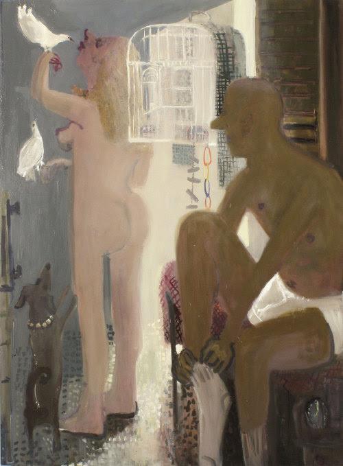 "kyle staver birdcage, 2009 oil on canvas, 54 x 68"""