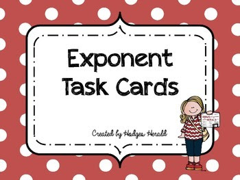 Exponent Task Cards