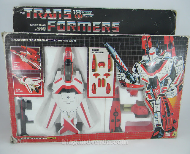 Transformers Jetfire G1 - caja