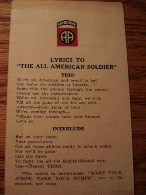 WWII 82nd airborne KIA glider tally song card!   EPHEMERA