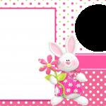 Moldura Convite e Cartão Png Páscoa para Meninas: