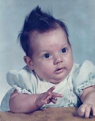 me, at 6 weeks (feb 1974)