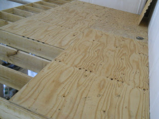 Several Plywood Sheets Installed