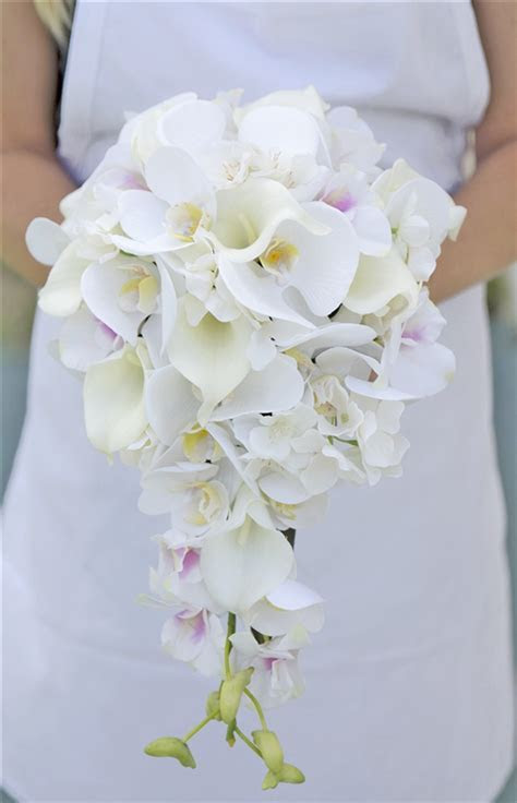 Natural Touch Off White Orchids and Calla Lilies Cascading