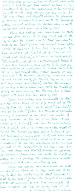 Lewis Carroll handwriting aprx 2 x 5 inches 300dpi