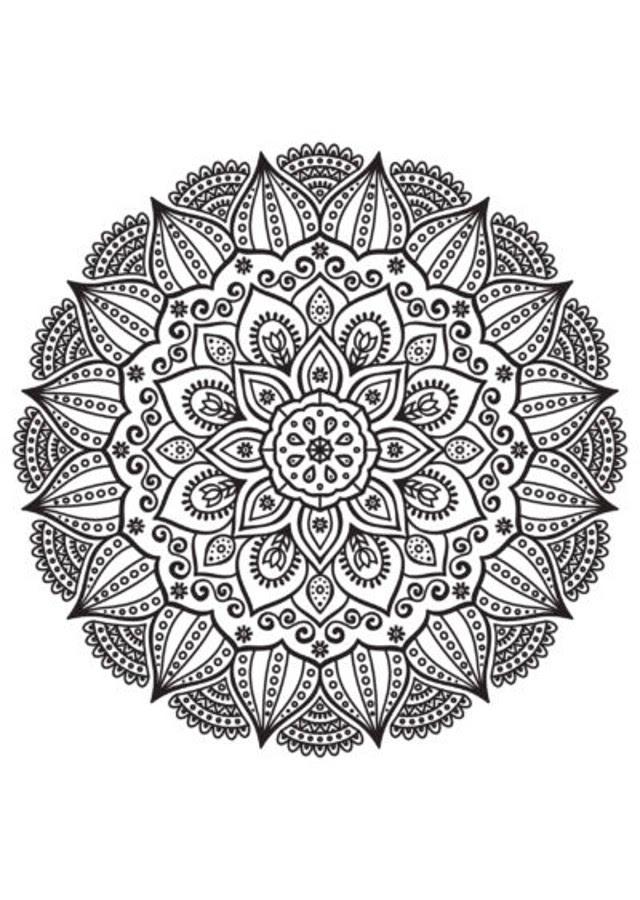 Mandalas Dibujos Para Colorear