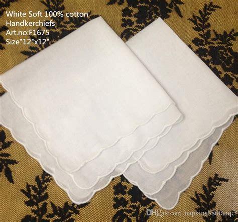 Home &Textiles Wedding Handkerchief 12x12White Soft 100%