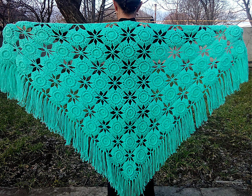 Châle crocheté Star Shawl par Svetlana Bersanova