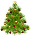 Transparent PNG Christmas Tree with Ornaments