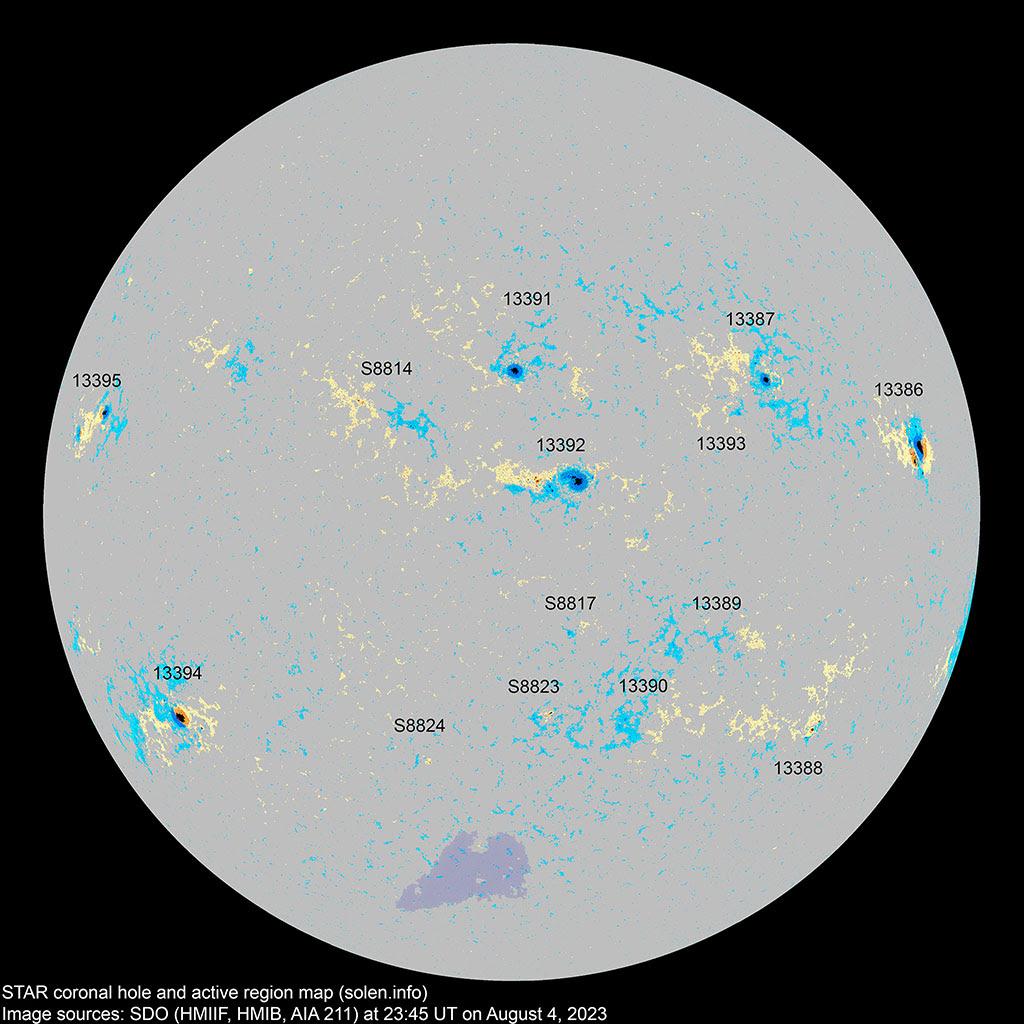 Sunspot Regions Map