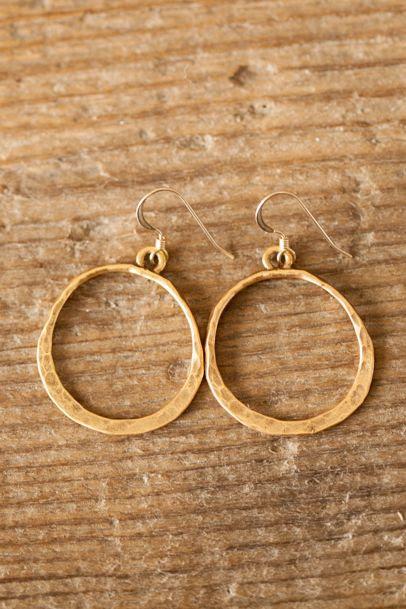 gold full circle earrings | Lisa Leonard Designs