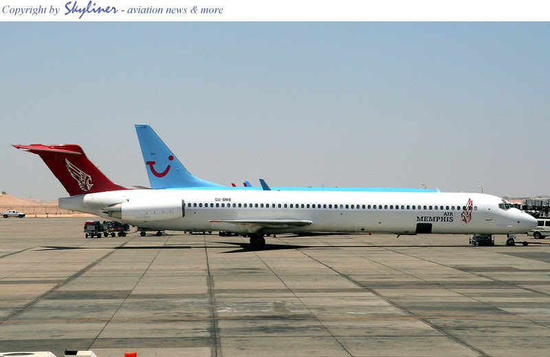 Air Memphis' MD83 all dolled up and ready to go in Hurghada