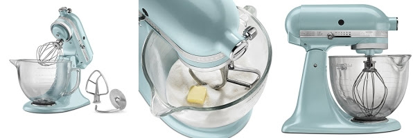 Hot Kitchenaid 5 Qt Artisan Design Series With Glass Bowl Azure
