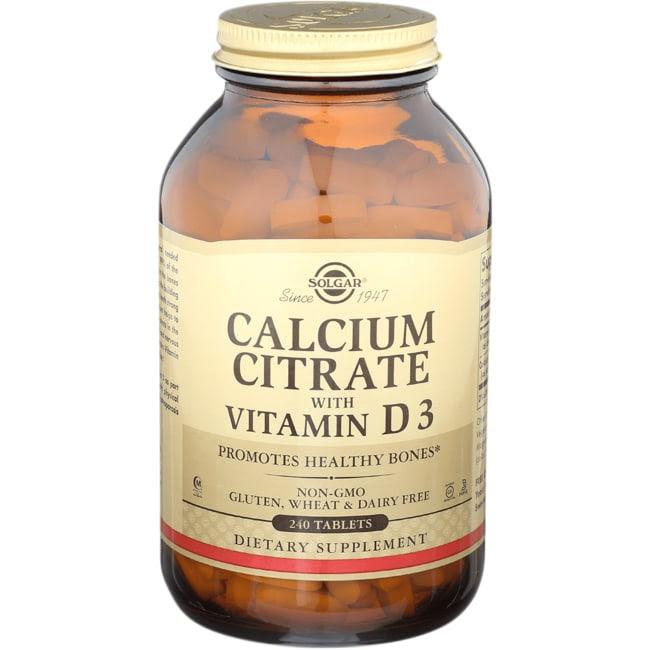 Solgar Calcium Citrate with Vitamin D3 240 Tabs - Swanson ...
