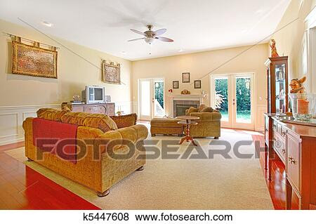 Pictures of Yellow living room with nice furniture ...