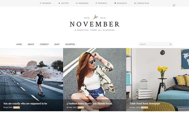 Noverber - Minimal & Responsive Blogger Template