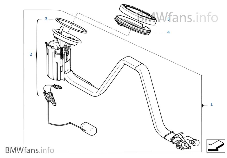 Fuel Pumpfuel Level Sensor Right Bmw 5 E60 M5 S85 Europe