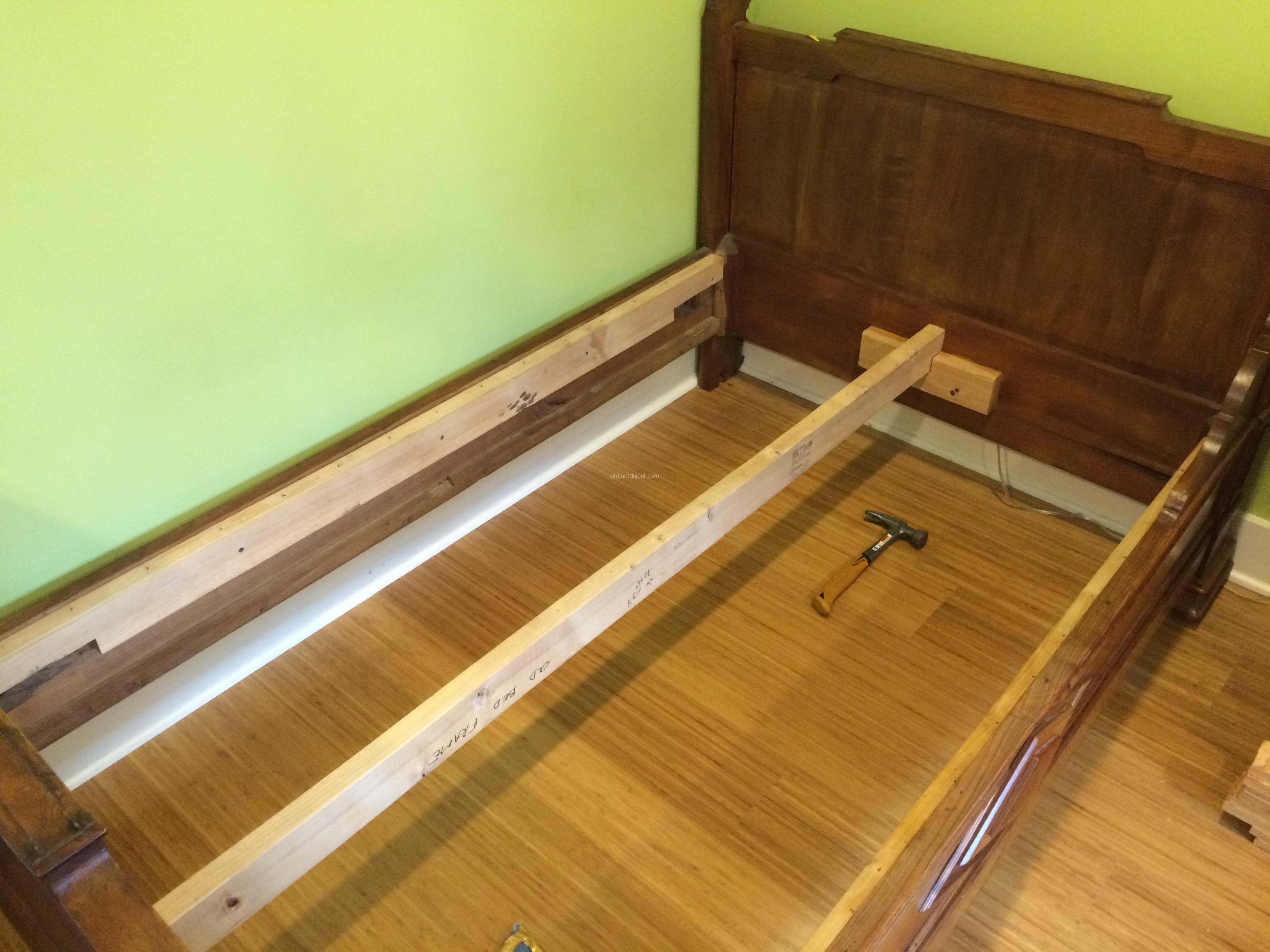 IKEA hack custom size slatted bed base Project du Jour