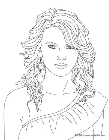 taylor swift coloring pages  hellokids