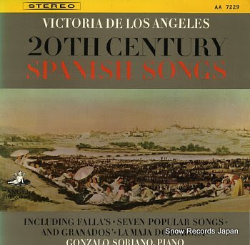 ANGELES, VICTORIA DE LOS 20th century spanish songs