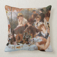 Luncheon of the Boating Party throwpillow