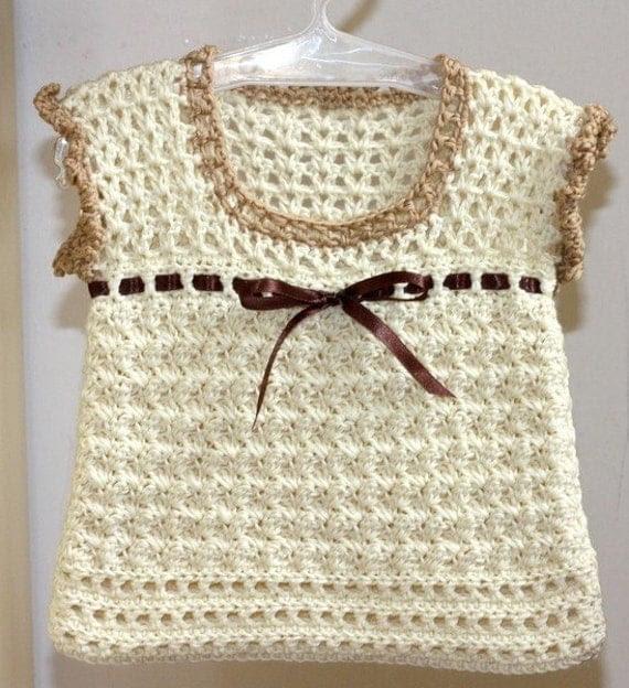 Crochet PATTERN (pdf file) - Milky Baby Vest