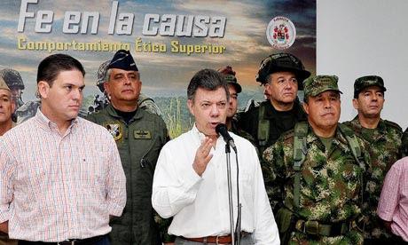 Ο Κολομβιανός πρόεδρος επιβεβαίωσε 36 αντάρτες των FARC νεκροί