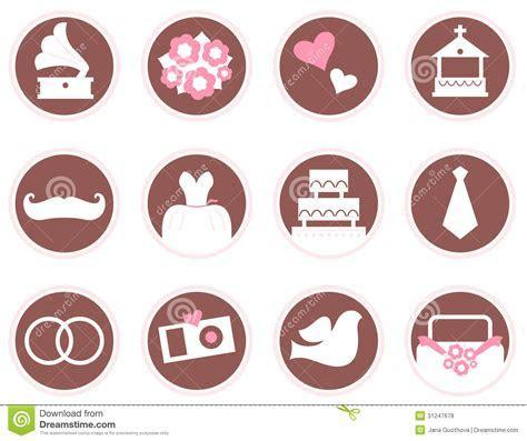 Retro Wedding Design Elements And Icons Stock Vector