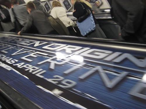 Wolverine Escalator ad at Tottenham Court Road Tube
