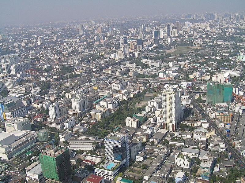 File:View north from the Baiyoke Tower II.JPG
