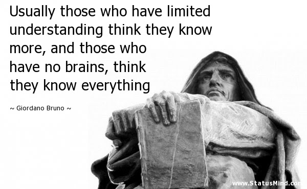 Usually Those Who Have Limited Understanding Think Statusmindcom