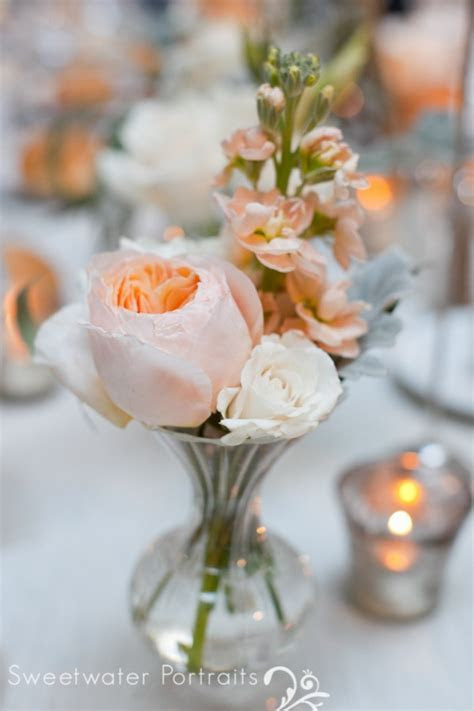 Wedding Wednesday: Peach and Ivory   Beautiful Blooms