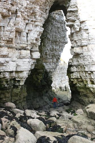 Me in Sea Cave thing at Flamborough