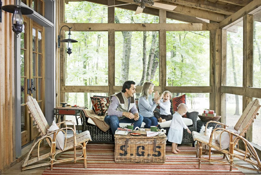 summer porch and patio decorating