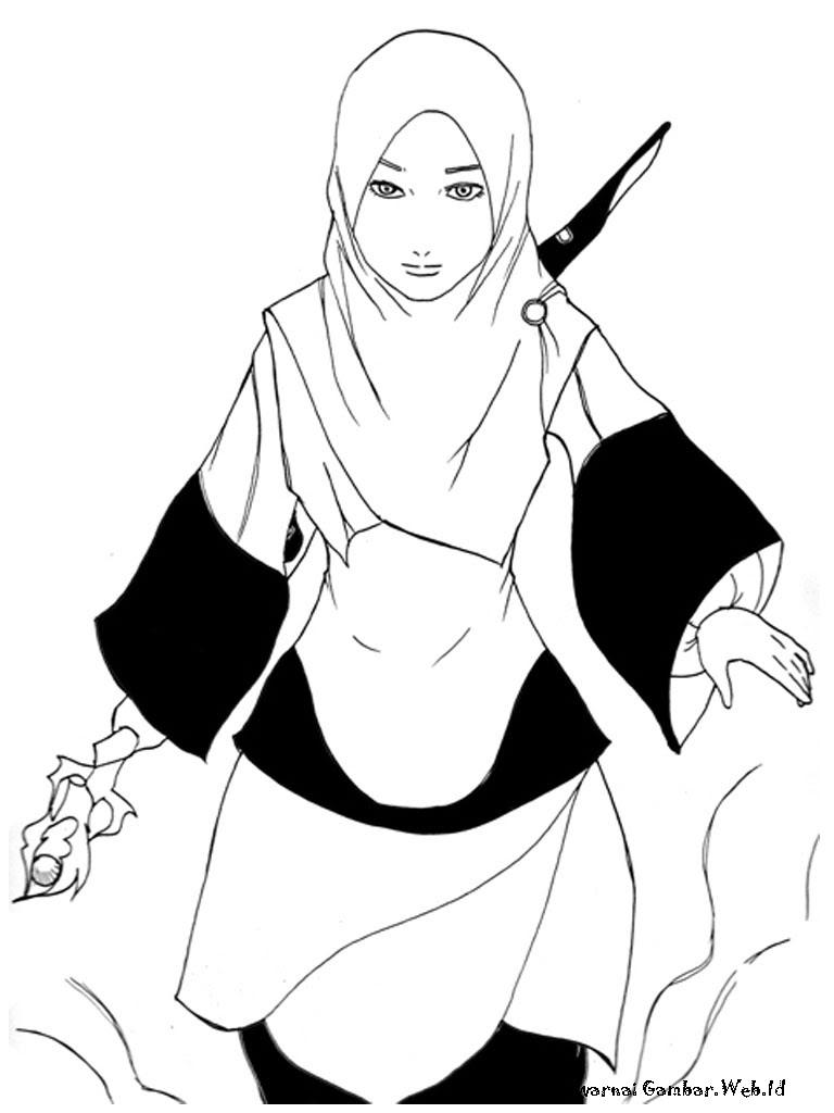 Gambar Kartun Anak Muslim Gallery Mewarnai Gambar Anak Viewinviteco