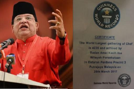 Tengku Adnan Tengku Mansor - Fake Guinness Records