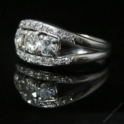 Antiques Atlas   Art Deco Diamond Trilogy Ring   2ct